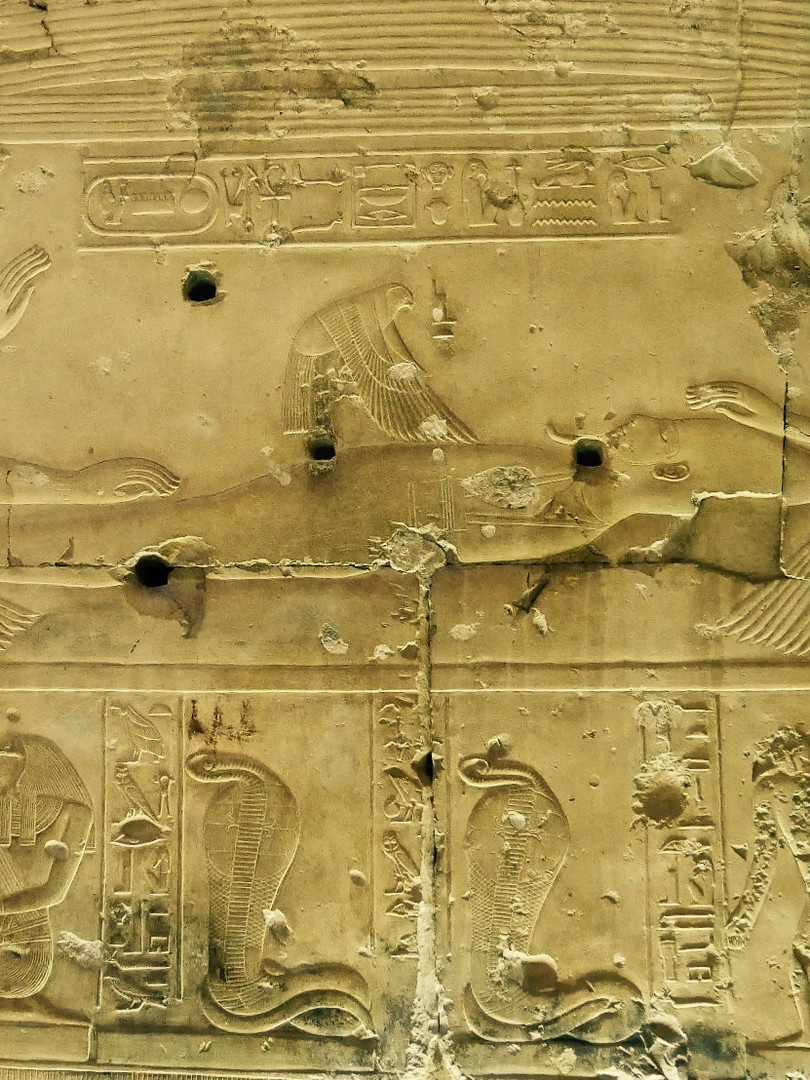 The conception of Horus from inside of the Seti I temple