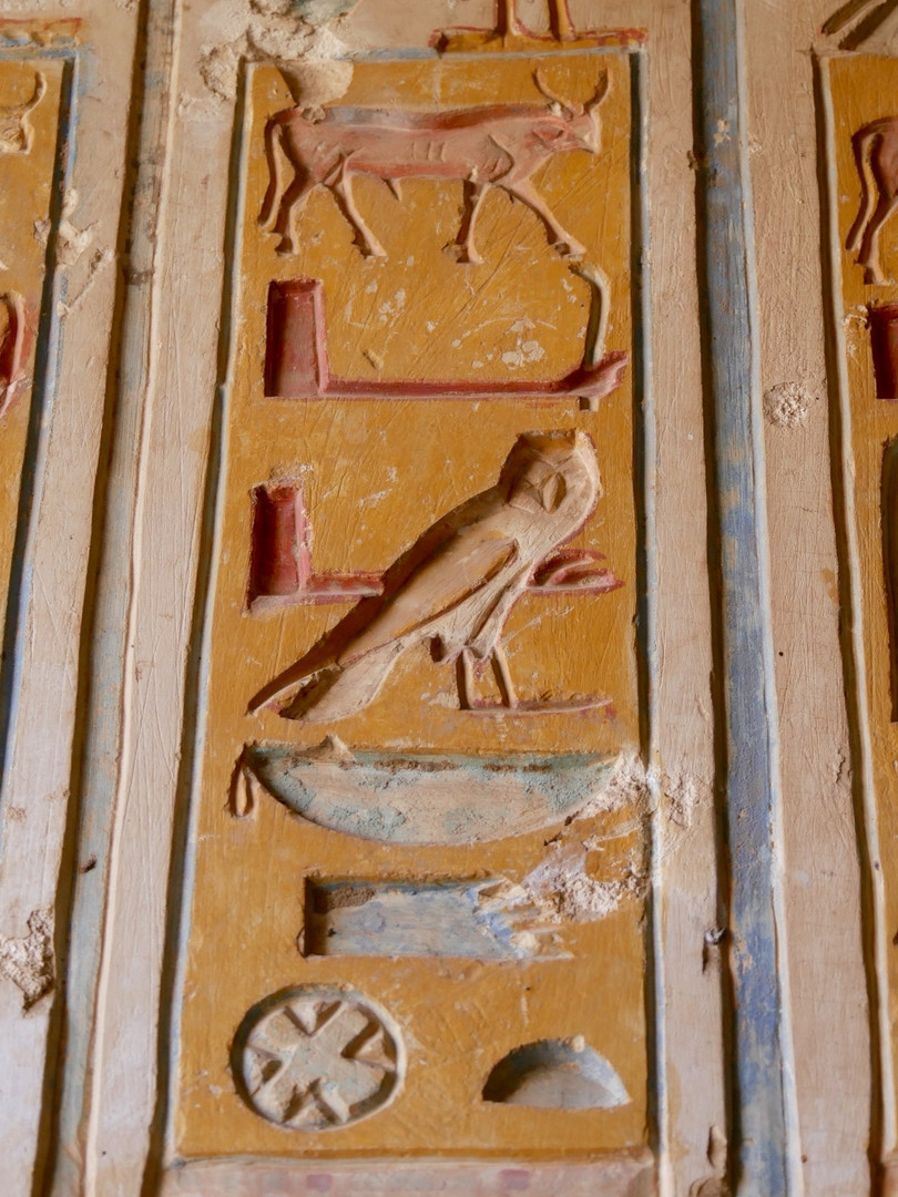 A close up from the Rameses II temple