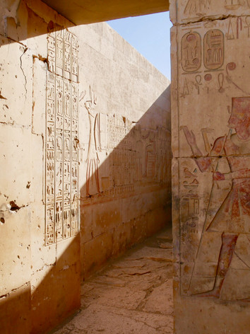 Inside of the Rameses II temple