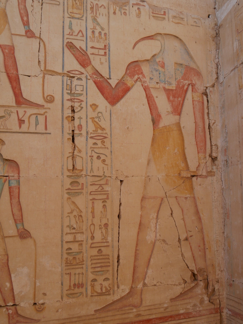 Thoth from inside of the Rameses II temple