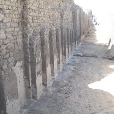 The 4,750 year old walls of Shunet El Zebib built by King Khasekhemwy