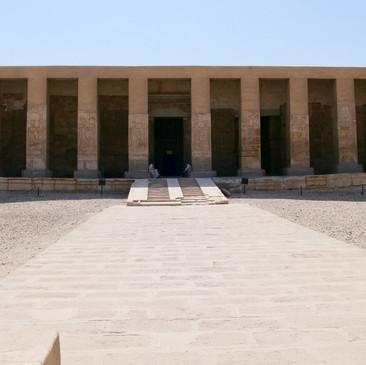 The Seti I temple dedicated to the ancient underworld god Osiris