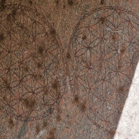 Two of the Flower Of Life symbols on the columns of the Osiran Temple