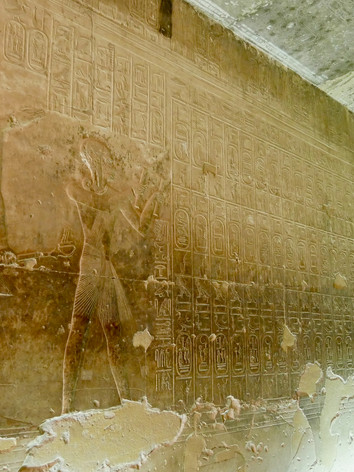 The famous Abydos King's list from inside of the Seti I temple