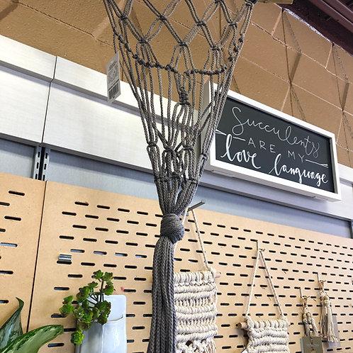 Macrame Hanging Plant Holder (M)