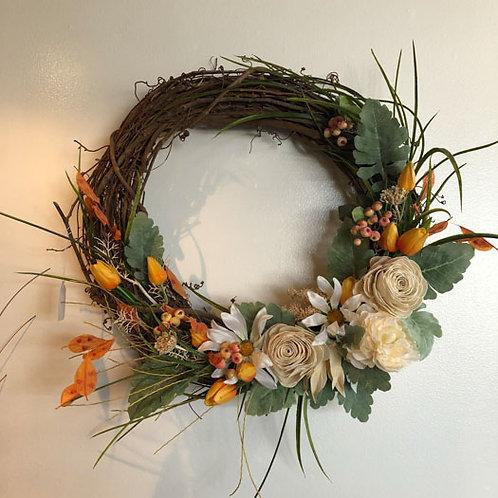 Orange Cream Wreath