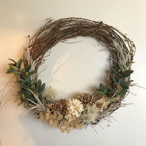 Taupe Wreath