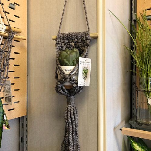 Macrame Hanging Plant Holder (S)