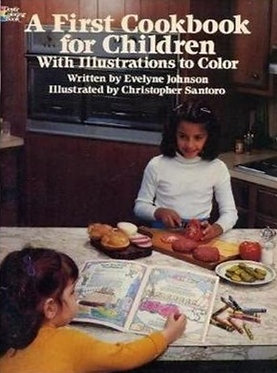 A First Cookbook for Children with Illustrations to Color