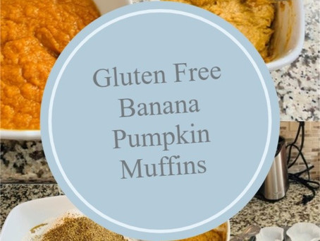 Gluten Free Banana Pumpkin Muffins