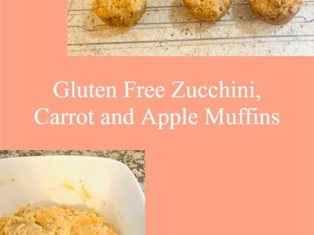 Gluten Free Zucchini, Carrot and Apple Muffins