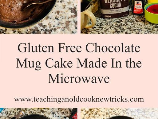 Gluten Free Chocolate Mug Cake Made In the Microwave