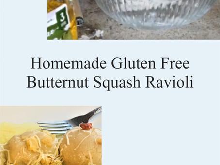 Homemade Gluten Free Butternut Squash Ravioli