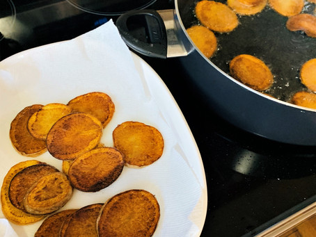 Fried Potatoes For Movie Date and Dry Ice