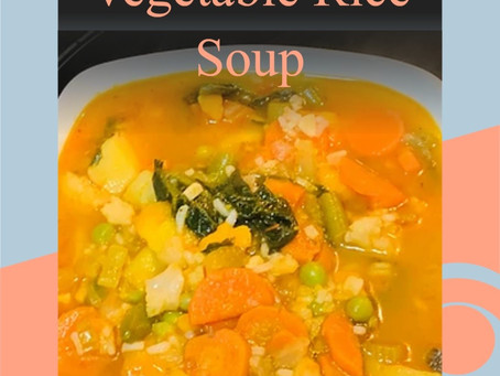 Gluten Free Vegetable Rice Soup