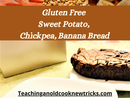 Gluten Free Sweet Potato, Chickpea, Banana Bread