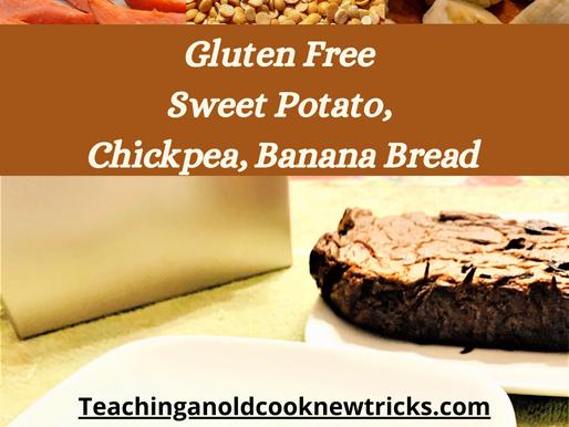 Gluten Free Sweet Potato, Chickpea, Banana Bread