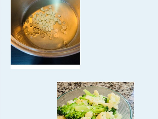 Spinach in Oil And Garlic and Broccoli and Cauliflower in Oil and Garlic
