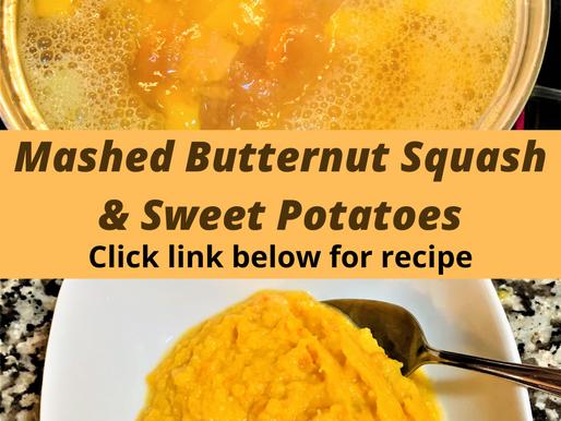 Mashed Butternut Squash and Sweet Potato
