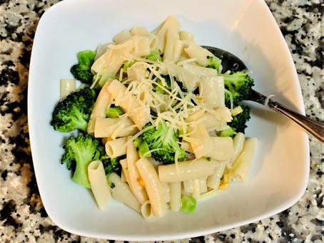 Gluten Free Pasta and Broccoli in Oil and Garlic