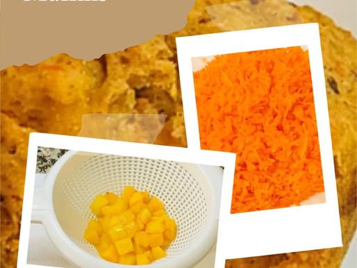 Gluten Free Nutritious Peach Carrot Muffins