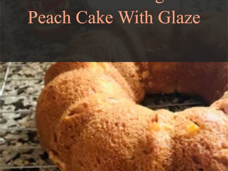 Gluten Free Yogurt Peach Cake With Glaze