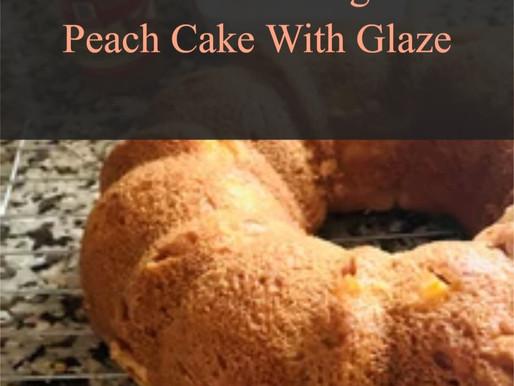 Gluten Free Yogurt Peach Cake With Glaze