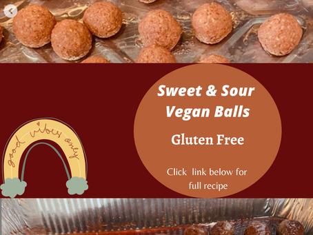 Sweet And Sour Vegan Balls (Can be made Vegetarian)