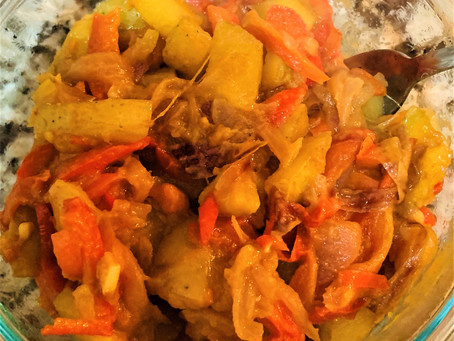 Peppers, Onions and Potatoes