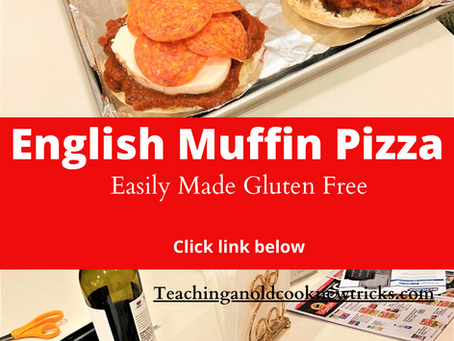 Mom's English Muffin Pizza - Easily Converted Gluten Free/Vegetarian