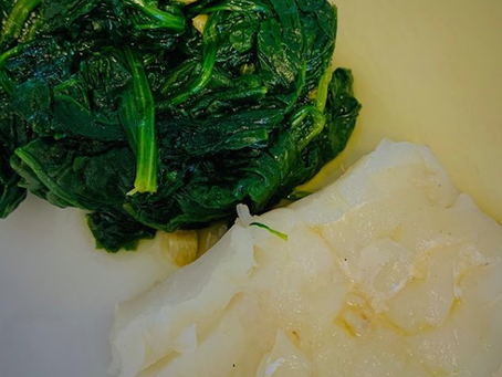 Cod and Spinach