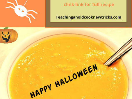 Gluten Free Vegetarian/Vegan Sweet Potato Soup - Halloween Soup