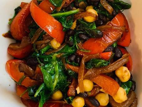 Stir Fried Veggies and Beans