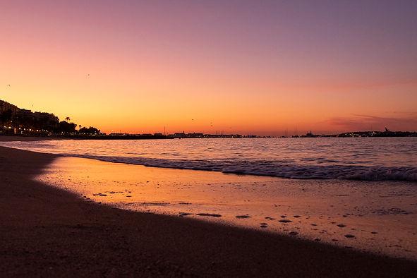 Cannes : lever de soleil