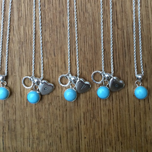 Turquoise and silver necklaces