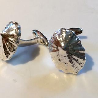 Limpet shell cufflinks