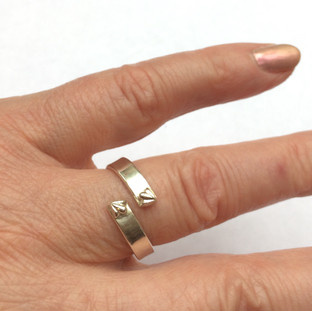Twist ring with Indian silver accents