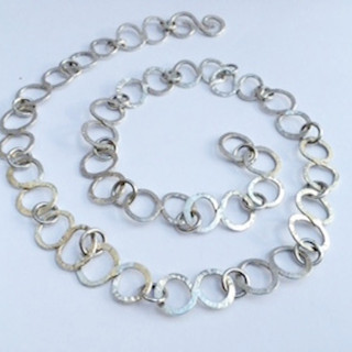 Hammered silver chain