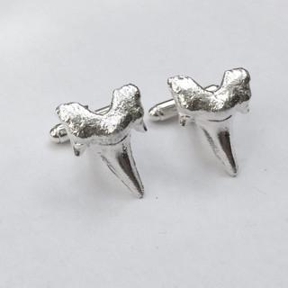 Shark's tooth cufflinks