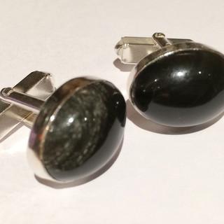 Obsidian cufflinks