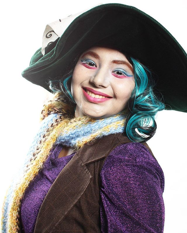 Here is a #tbt of my classmate Maggie posing as the #MadHatter when I did her makeup in July! #rhima