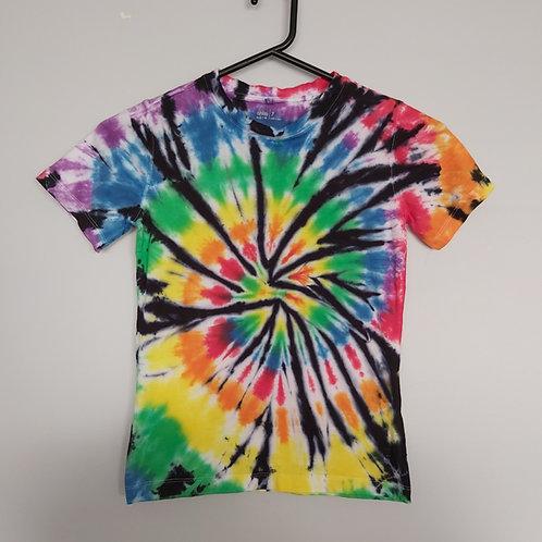 Unisex Kids T-Shirt - Rainbow with Black