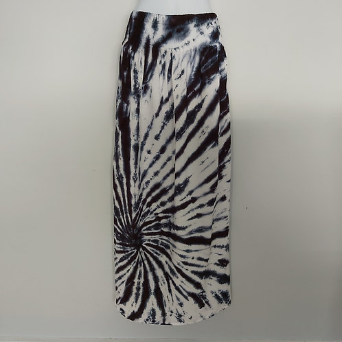 Maxi Skirt with Pockets - Black Spider
