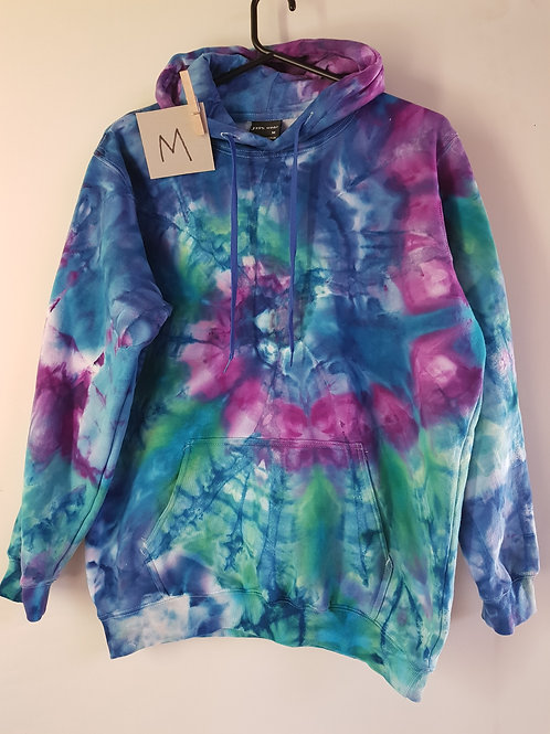 "Tie Dyed Adults Unisex Hoodie -Ice Dyed ""Mirage"""