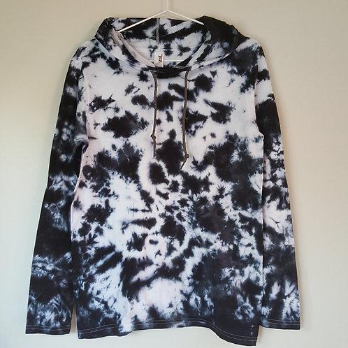 Tie Dyed Adults Unisex Hoodie -Black Marble