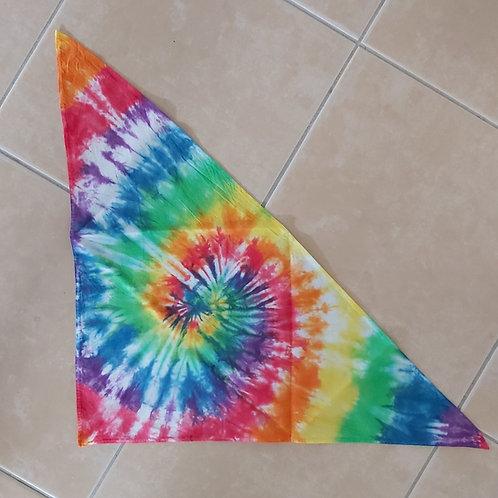 Bandana - Triangle - Rainbow Spiral