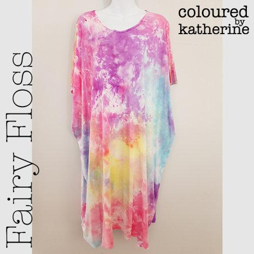 Ladies Jersey Kaftan - Fairy Floss
