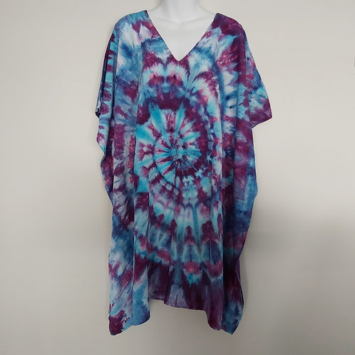 Ladies Short Kaftan - Blueberry
