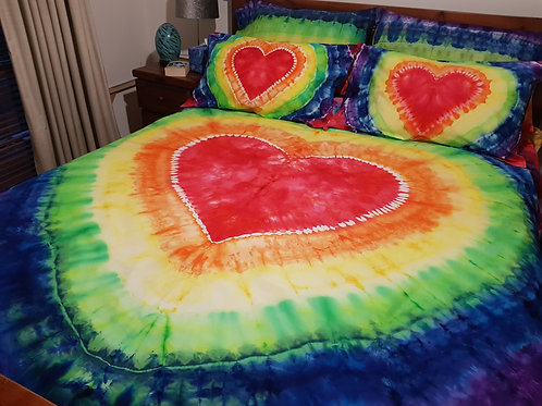 Quilt Cover Set - Rainbow Heart