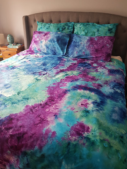 Quilt Cover Set - Mixed Marble